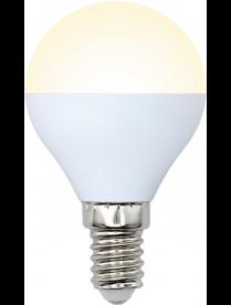 "(090654) LED-G45-8W/WW/E14/FR/O Лампа светодиодная. Форма ""шар"", матовая. Серия Optima. Теплый белый"