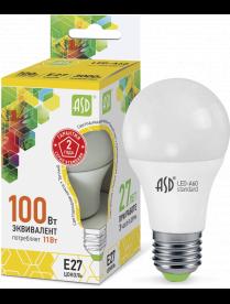(090460) Лампа светодиодная LED-A60-standard 11Вт 160-260В Е27 3000К 900Лм ASD 016.4005
