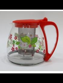 Заварочный чайник 1000 мл., стекло, метал. фильтр 80109