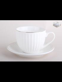 Набор чайный 1/2 Лайн голд 200мл. п/уп TC69A-2P