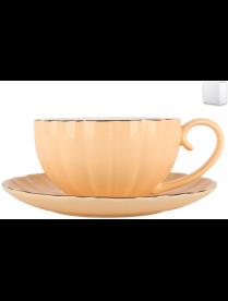 Набор чайный 1/2 Миндальный крем ф.круг 280мл ZL09782-1