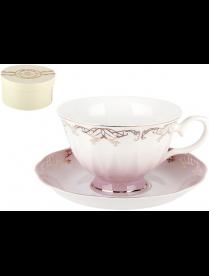 Набор чайный 1/2 Симфония розовая 250мл п/уп Z590-1-3(1/2)