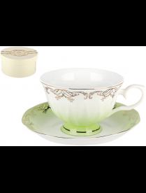 Набор чайный 1/2 Симфония салатовая 250мл п/уп Q590-1-3(1/2)