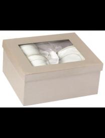 Набор чайный 4 предмета, фарфор, в серебряной коробке FLW-1012/22