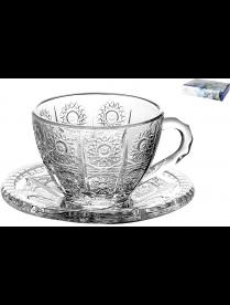 Набор чайных пар 1/6 Хрустальное солнце 200мл, п/уп TZ-GB09D6007XTY