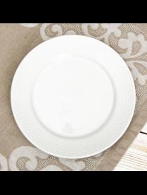"""(095711) Тарелка десертная 19 см """"Этюд"""" цвет белый 2486841"""