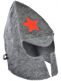 """Шляпа банная """"Буденовка"""" евро, 30% шерсть, 70% полиэс. 364-191"""