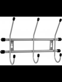 "(102101) Вешалка настенная ""Стандарт 3"" 3 крючка цв. Серый металлик ВНС33"