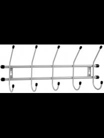 """(102102) Вешалка настенная """"Стандарт 5"""" 5 крючов цв.Серый металлик ВНС53"""
