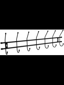 """(101402) Вешалка настенная """"Стандарт 7"""" 7 крючов цв.Черный ВНС72"""