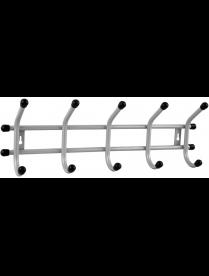 """(105749) Вешалка настенная """"Уют 5"""" 5 крючков цв. Серый металлик ВНУ53"""