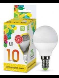 (100182) Лампа светодиодная LED-ШАР-standard 10Вт 230В Е14 3000К 900Лм ASD