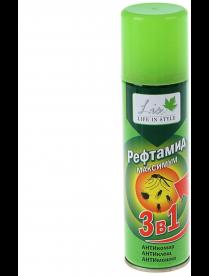 (103211) Рефтамид LIS Максимум 3 в 1 (зеленый) /комар,клещи,мошк/ 147мл 391801