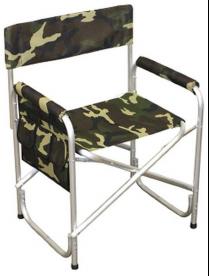 """Кресло складное """"Следопыт"""" 595*450*800 мм, c карманом на подлокотнике, алюм.PF-FOR-AKS-02"""