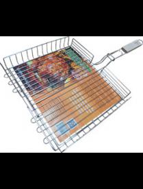 Решетка гриль для курицы малая оксид. 220*205 РГК4О