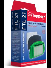Topperr FTL 21 Комплект фильтров для пылесосов Tefal TW25..,TW27..Rowenta RO25..,RO27 Moulinex MO25.