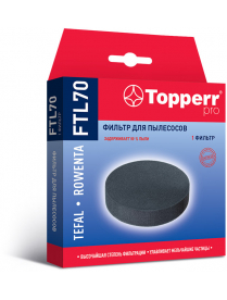 Topperr FTL 70 Губчатый фильтр для пылесосов Tefal VP7545RH Rowenta RY7535WH,RY7557WH (RS-RT900606)
