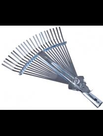 Грабли веерные раздвижные, 22 зуба, оцинкованная сталь 38x40см INBLOOM 187-005