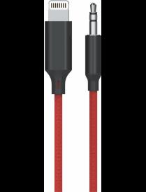 A/V ШНУР EZRA LD06 (штекер iOSLightning - штекер Джек 3,5мм) 1м