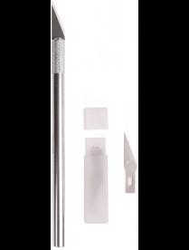 REXANT Нож с перовым лезвием 5 запасных лезвий (скальпель) 12-4910