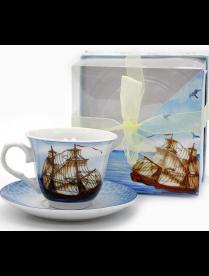 Набор чайный 2пр. 220мл (1чашка+1блюдце) (Квадр.упак) (120905) 0030012