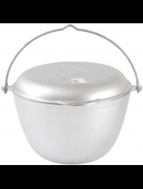 Казан походный 4,0л с крышкой сковородкой ровное дно кп40 дубликат