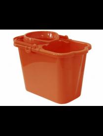 Ведро 9,5л с отжимом прямоугольное Оранжевый М2421
