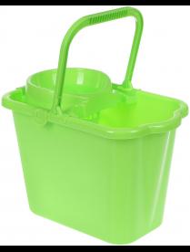 Ведро 9,5л с отжимом прямоугольное ярко-зеленый М2421
