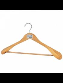 Вешалка костюмная с широкими плечами и перекладиной с ПВХ покрытием 007767