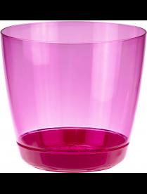 Кашпо ОРХИДЕЯ D180мм 3л с поддоном Розовый прозрачный М3051