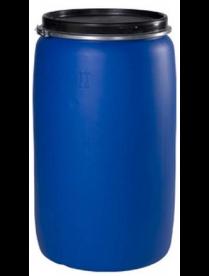 Бочка пластиковая (евробарабан) с крышкой 227л синяя г. Москва РСВ-379706