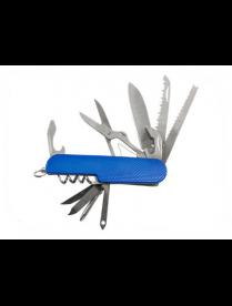 Нож многофункциональный ECOS SR082 синий 325130