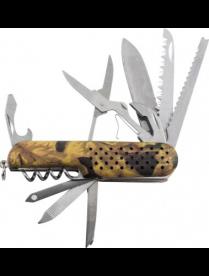 Нож многофункциональный ECOS SR084 милитари 325132