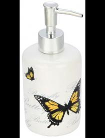 """Дозатор для жидкого мыла """"Бабочки"""" DIS-FLY, керамика 002792"""