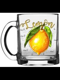 """Кружка 320мл """"Чайная"""" """"Полезный лимон"""" OCZ1208P.LM (24)"""