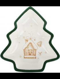 Салатник в форме елочки 30х26х6см, керамика Пряничный домик MILLIMI 820-129