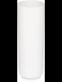 Ваза д/цветов под срез D90мм h-255мм белая (12) М8527