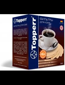 Topperr 3046 Фильтр бумажный для кофеварок №4 (200шт.), неотбеленный