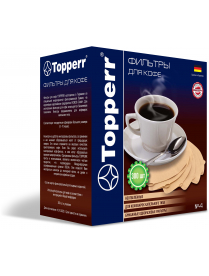Topperr 3047 Фильтр бумажный для кофеварок №4 (300шт.), неотбеленный