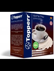 Topperr 3048 Фильтр бумажный для кофеварок №4 (300шт.), отбеленный