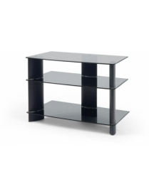 Стол TV-1585 черный+черн. стекло