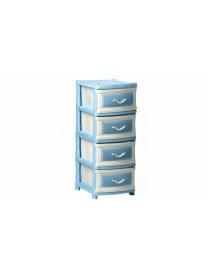 (31481) М2790 Комод Фиджи (4секц) Голубой+белый