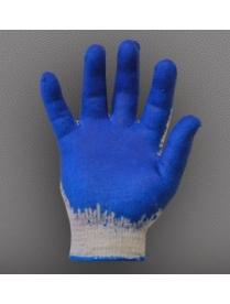 """(16950) Перчатки """"Пламя"""" белые с латексным покрытием"""