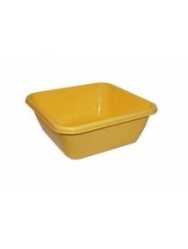 (16991) М2577 Таз квадратный 8л Жёлтый (20)