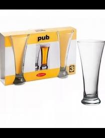 (14581) 42199 БОР Паб Набор стаканов д/пива 300мл 3шт.
