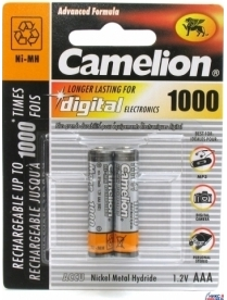 AAA Camelion 1000mAh (2/24шт. в уп.)