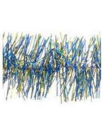 Мишура СН39-2 золот-голубой, лавсан, 7см х 2м, 2 слоя