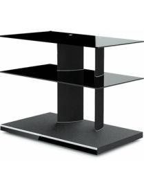 стол TV-2480 черный+черное стекло