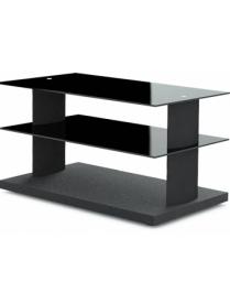 стол TV-2580 черный+черное стекло