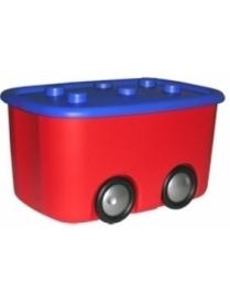 (13809) М2598 Ящик для игрушек Моби Красн. с кр. (3)